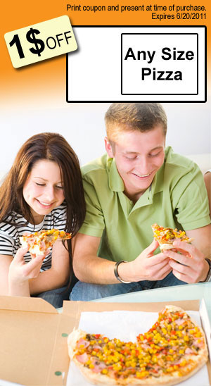 pizzas subs - - Jackson, MI - - Save Time Convenience Stores - Pizza Slice - 1 OFF Any Size Pizza